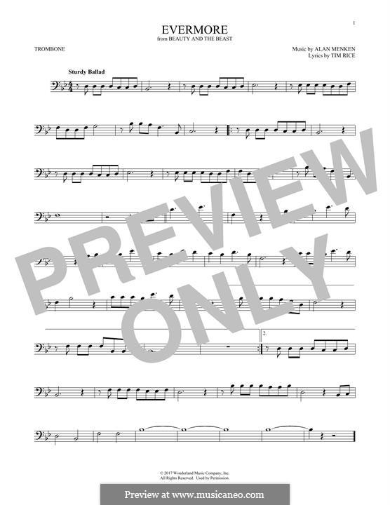 Evermore: para trombone by Alan Menken