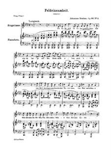 Six Songs, Op.86: No.2 Feldeinsamkeit (In Summer Fields) by Johannes Brahms