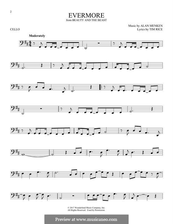 Evermore: para violoncelo by Alan Menken