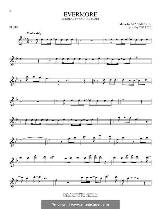 Evermore: para flauta by Alan Menken