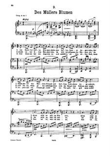 No.9 Des Müllers Blumen (The Miller's Flowers): para voz baixa e piano by Franz Schubert