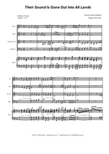 Fragments: Their Sound Is Gone Out Into All Lands, for woodwind quartet by Georg Friedrich Händel