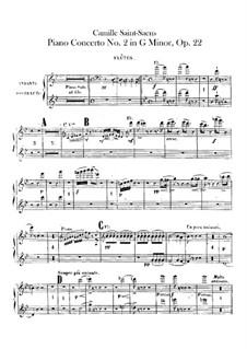 Concerto for Piano and Orchestra No.2 in G Minor, Op.22: flautas  by Camille Saint-Saëns