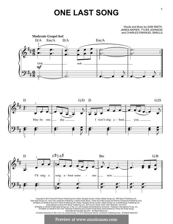 One Last Song: Para Piano by Charlie Smalls, Samuel Smith, James Napier, Tyler Sam Johnson