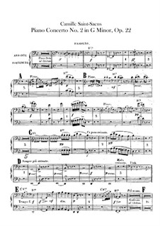 Concerto for Piano and Orchestra No.2 in G Minor, Op.22: fagotes partes I-II by Camille Saint-Saëns