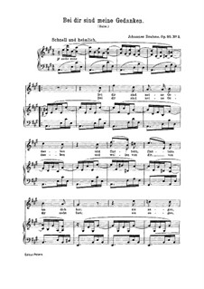 Seven Songs, Op.95: Nr.2 Bei dir sind meine Gedanken by Johannes Brahms