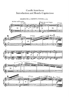Introduction and Rondo Capriccioso, Op.28: Trumpets and cornet parts by Camille Saint-Saëns
