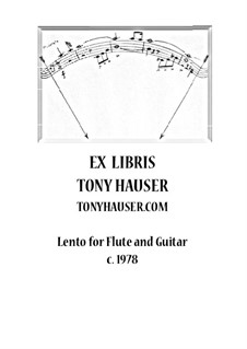 Lento for Flute and Guitar: Lento for Flute and Guitar by Tony Hauser