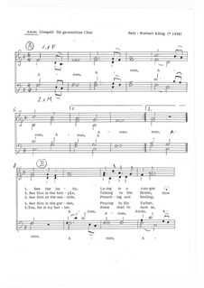 Let Us Praise All Together: SATB, Op.12.4 by folklore