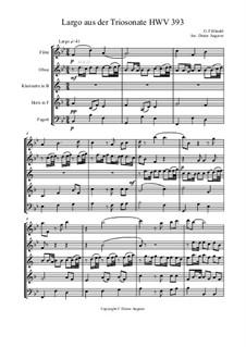 Largo aus der Triosonate für HB5, HWV 393: Largo aus der Triosonate für HB5 by Georg Friedrich Händel