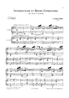 Introduction and Rondo Capriccioso, Op.28: dois pianos de quatro mãos by Camille Saint-Saëns