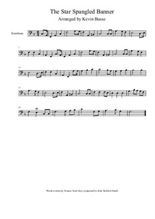 The Star Spangled Banner (National Anthem of The United States): para trombone by John Stafford Smith