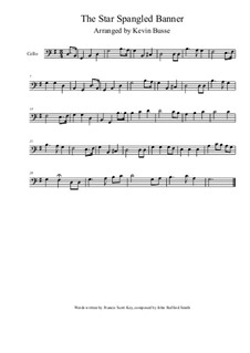 The Star Spangled Banner (National Anthem of The United States): para violoncelo by John Stafford Smith