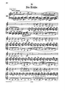 No.15 Die Krähe (The Crow): para voz baixa e piano by Franz Schubert