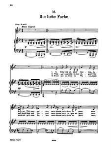 No.16 Die liebe Farbe (The Beloved Colour): para voz baixa e piano by Franz Schubert