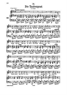 No.14 Die Taubenpost (The Pigeon Post): para voz baixa e piano by Franz Schubert