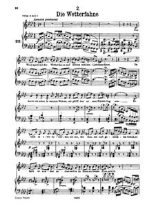 No.2 Die Wetterfahne (The Weather Vane): para voz baixa e piano by Franz Schubert
