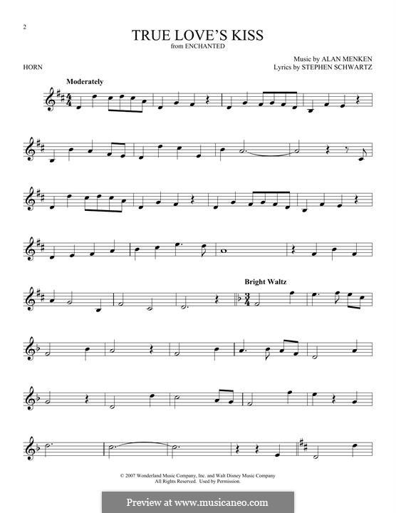 True Love's Kiss: For horn by Alan Menken