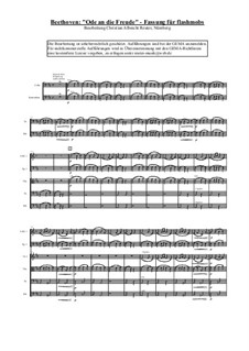 Ode to Joy: For choir and symphonic orchestra by Ludwig van Beethoven