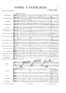 Hymn for Victor Hugo, Op.69: Orchestral part by Camille Saint-Saëns
