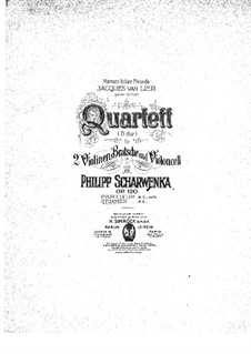 String Quartet No.2 in D Major, Op.120: violino parte I by Philipp Scharwenka