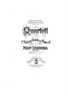 String Quartet No.2 in D Major, Op.120: parte viola by Philipp Scharwenka