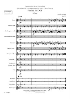 Fanfare for DGF: For concert band, Op.726 by Carson Cooman