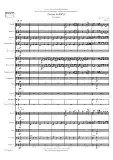 Fanfare for DGF: para orquetra, Op.763 by Carson Cooman