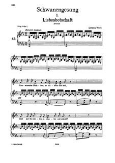 No.1 Liebesbotschaft (Message of Love): para voz baixa e piano by Franz Schubert