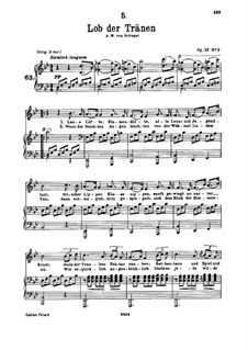 Lob der Tränen (In Praise of Tears), D.711 Op.13 No.2: para voz baixa e piano by Franz Schubert