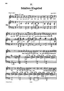 Shepherd's Lament, D.121 Op.3 No.1: para voz baixa e piano by Franz Schubert