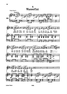 No.6 Wasserflut (Torrent): para voz baixa e piano by Franz Schubert
