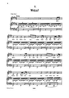 No.2 Wohin (Where to): para voz baixa e piano by Franz Schubert
