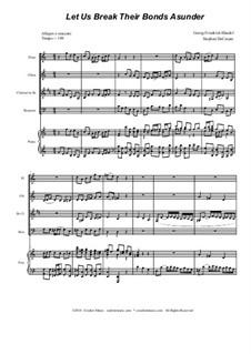 No.41 Let us Break their Bonds Asunder: Para quarteto de sopro by Georg Friedrich Händel