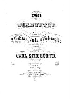 String Quartet No.2 in F Major, Op.35: violino parte I by Carl Schuberth