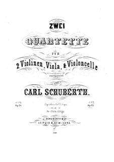 String Quartet No.2 in F Major, Op.35: parte viola by Carl Schuberth
