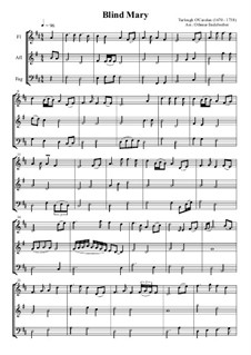 Blind Mary: For flute, alto flute and bassoon by Turlough O'Carolan