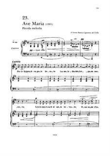 Ave Maria: Para vocais e piano by Francesco Paolo Tosti