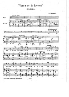 Versa est in luctum cythara mea, Op.34: Versa est in luctum cythara mea by Giovanni Sgambati