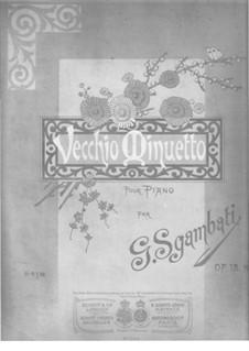 No.2 Vecchio Menuetto: Para Piano by Giovanni Sgambati