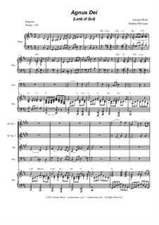 Agnus Dei: para quarteto de bronze by Georges Bizet