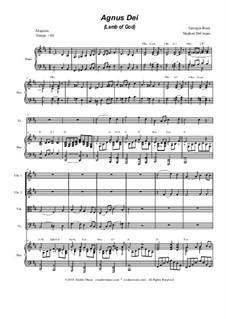 Agnus Dei: para quartetos de cordas by Georges Bizet