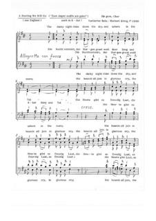 A Hunting We Will Go / Zum Jagen woll'n wir gehn für gem. Chor: A Hunting We Will Go / Zum Jagen woll'n wir gehn für gem. Chor, Op.1.1 by folklore