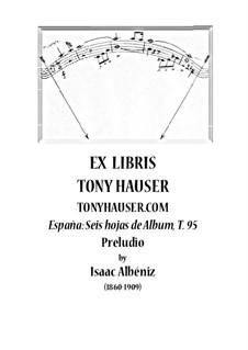 No.1 Prelude: Para Guitarra, T.95 by Isaac Albéniz