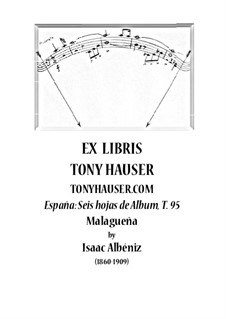 No.3 Malagueña: Para Guitarra, T.95 by Isaac Albéniz