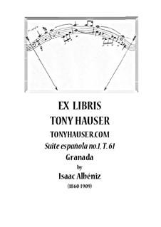 Suite española No.1, Op.20 T.61: Granada by Isaac Albéniz