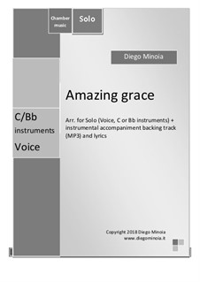 Amazing Grace, for One Instrument: Lead sheet (instrument in C) by folklore