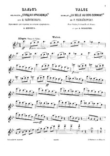 Waltz: Para trio de piano - parte de violino by Pyotr Tchaikovsky