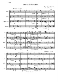 Music all powerful: Para quarteto de sopro by Thomas F. Walmisley