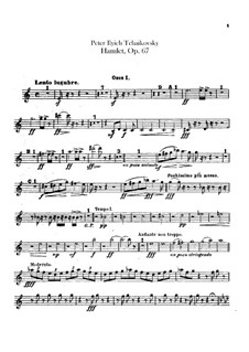 Hamlet. Overture-Fantasia, TH 53 Op.67: Oboes and english horn parts by Pyotr Tchaikovsky